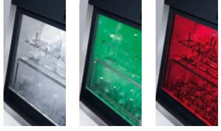 • Multi-colour LED chamber lighting (white, green, red) • Visual control of reprocessing
